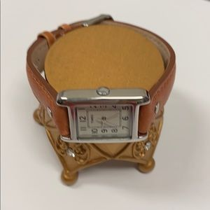 Women's Timex leather strap watch Brown